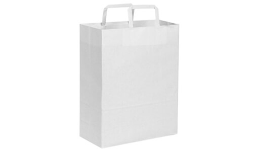 Sacchetti in carta kraft bianca 19x24x7 personalizzate