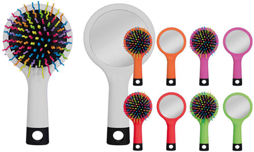 Specchietto spazzola CLARISSA Stampa il tuo logo