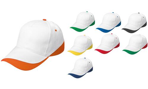 Cappellini Bordo colorato Personalizzabili con logo
