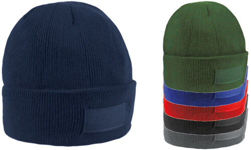 Cappellino con etichetta serigrafabile promozionale