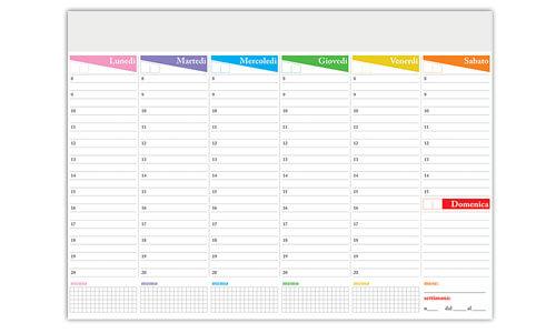 Planning da tavolo Settimanale