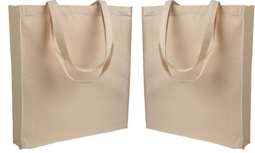Shopper con soffietto Canvas serie End