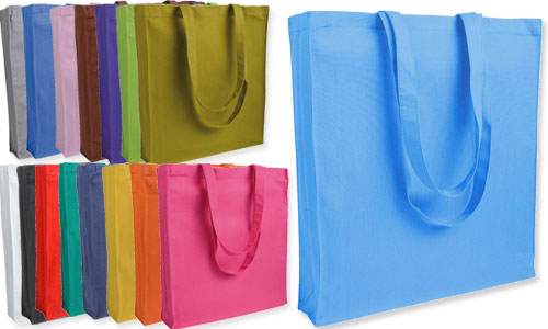 Shopper con soffietto colorate serie Top