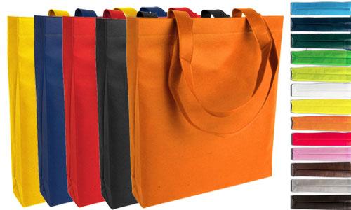 Shopper spottina con soffietto in tessuto TNT personalizzabile