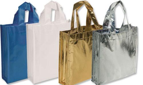 Mini Shopper in TNT Effetto Lucido