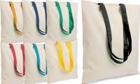 Borsa cotone manici colorati