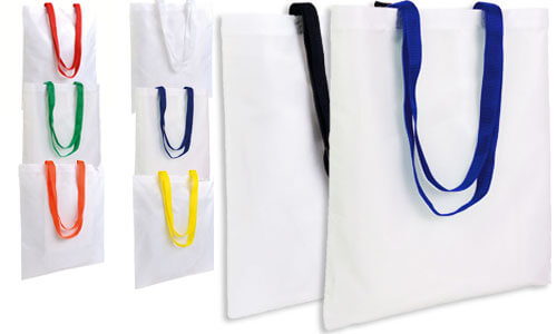Borse poliestere subli bag manici colorati