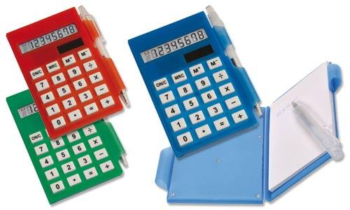 Set calcolatrice e mini penna