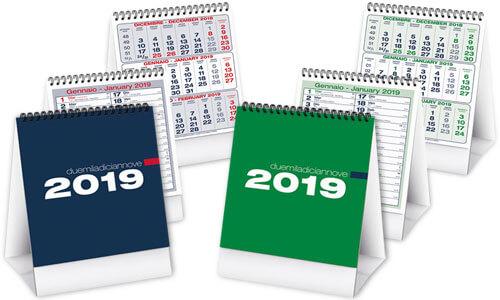 Calendari da tavolo: calendari personalizzati 2019 easy gadget