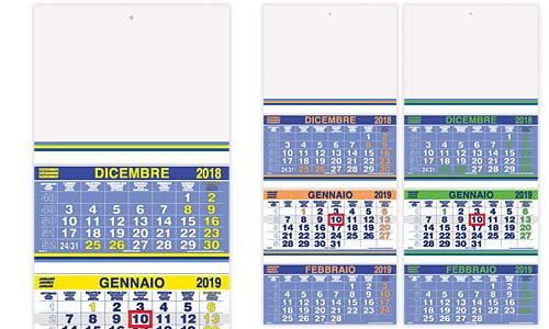Calendario Trimestrali.Calendari Trimestrali Murali Colore Fluo Trittici