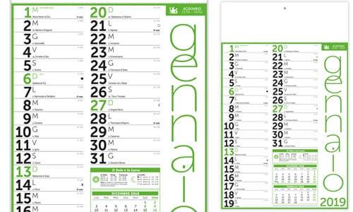 Calendario Olandese Fluo Mono