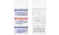 Calendario Trittico Bicolor 3 spirali