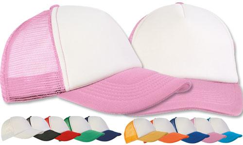 Cappellini con calotta a rete