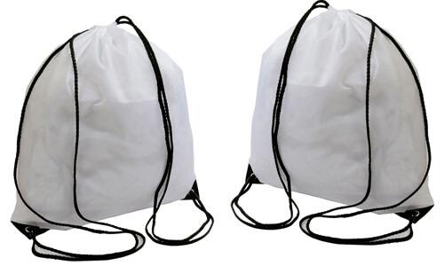 Zaini sacca in colore bianco