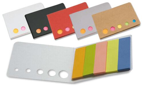 Astuccio porta foglietti adesivi colorati