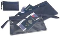 Porta documenti blu