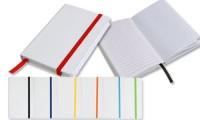 Quaderno bianco con elastico colorato 9x14 cm