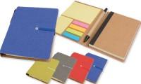 Set block notes penna e foglietti adesivi chiusura ad elastico