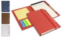 Notes con penna e set foglietti adesivi chiusura ad elastico