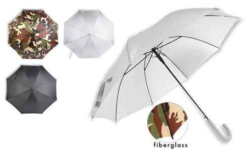 Ombrello con corpo in fibra di vetro