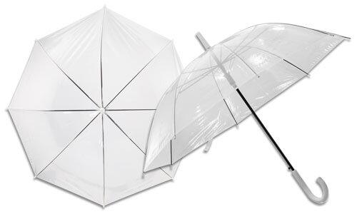Ombrello con corpo trasparente
