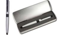 Penna in Metallo Finiture Antiscivo Nere
