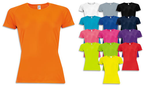 Magliette donna, rete di poliestere effetto traspirante