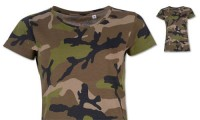 Maglietta donna stampa mimetica Camouflage