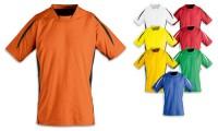 Tshirts bambino scollo a V, bande traspiranti sui lati in contrasto