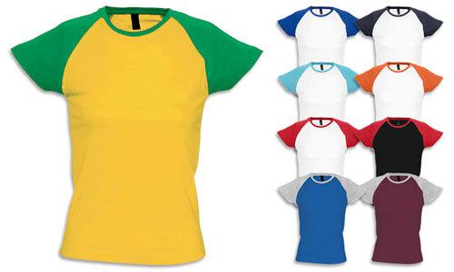 T-Shirt donna bicolore, Baseball