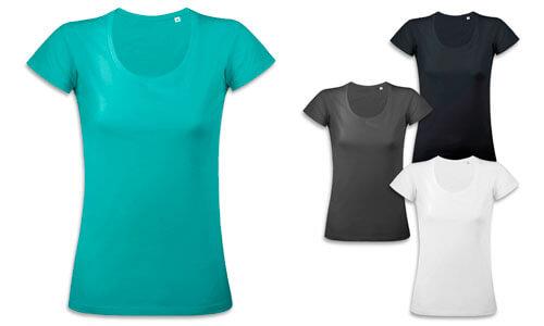 Magliette donna, cotone Jersey 110gr. sottile
