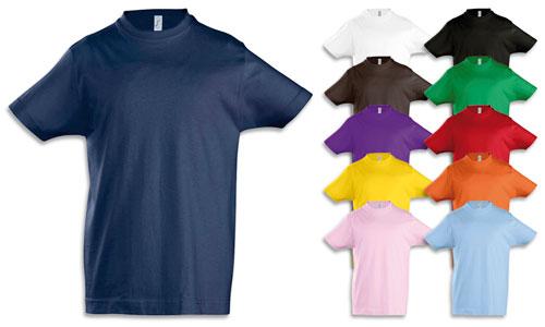 Maglietta bambino cotone 190gr.