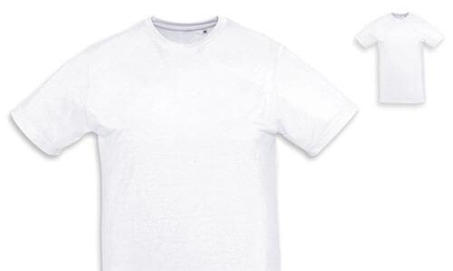 T-shirt uomo, poliestere 160gr. ideale per la sublimazione