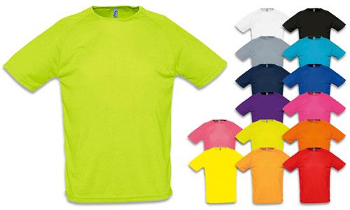 Magliette uomo, rete di poliestere in materiale traspirante