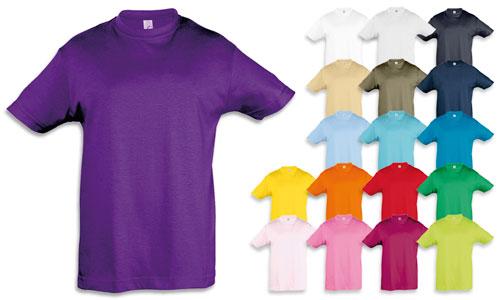 T-shirt bambino stile classico, tubolare