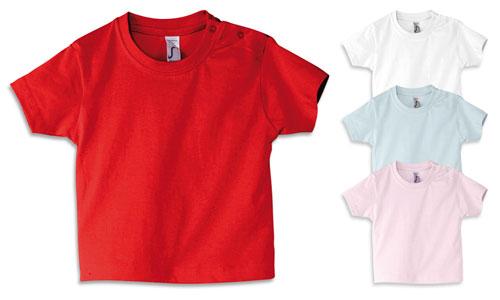 Maglietta neonato, cotone 160gr. Extra morbida