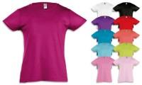 T-shirt bambina manica corta, punto vita sfiancato