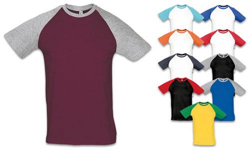 T-Shirt uomo bicolore, Baseball