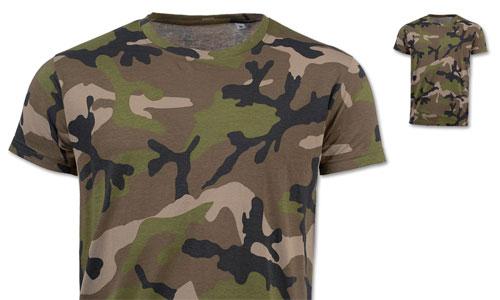 Maglietta uomo stampa mimetica Camouflage