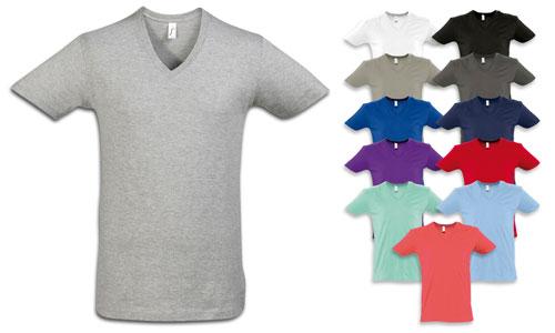T-shirt uomo scollo a V profondo, stile trendy