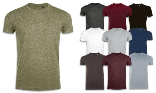 T-Shirt uomo taglio Slim, in cotone da 190 gr.