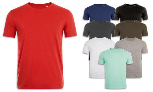 T-shirt uomo cotone Ringspun, tessuto morbido
