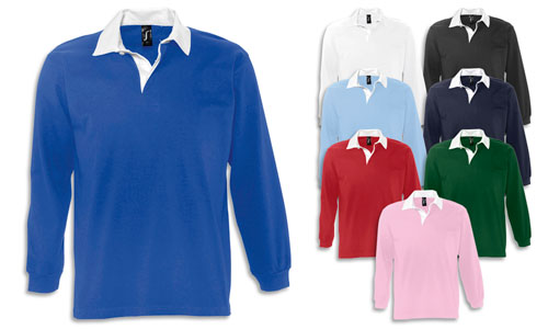 Polo unisex stile rugby, Jersey 280gr.