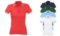 Polo donna stile Golf, in twill