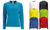 T-Shirt sportiva donna, poliestere effetto traspirante