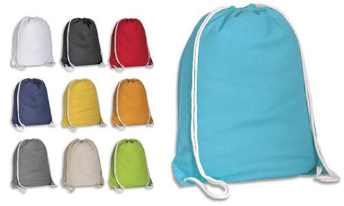 Zainetto sacca in cotone colorato